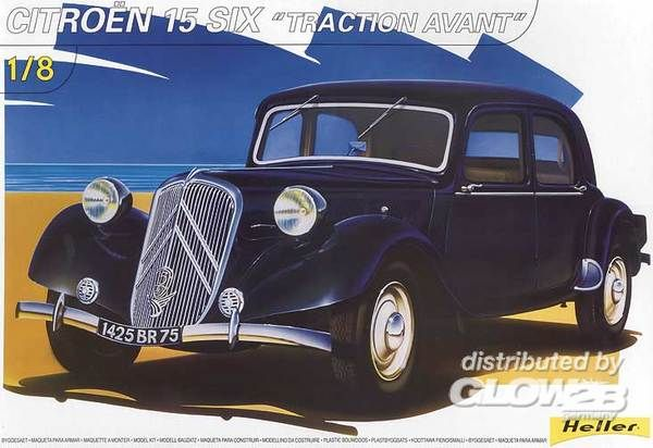 heller citroen 15 six traction avant 1 8 bouwpakket. Black Bedroom Furniture Sets. Home Design Ideas
