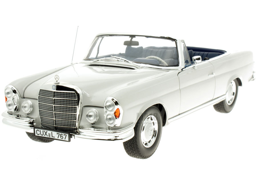 Norev mercedes benz 280 se cabriolet 1968 grijs 1 18 for 1968 mercedes benz 280 se convertible