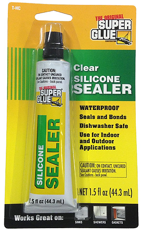 how to clean silicon sealer