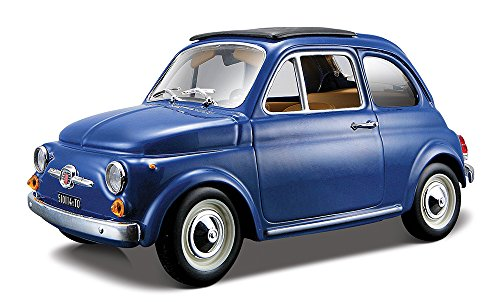 burago fiat 500 f blauw schaalmodel 1 24. Black Bedroom Furniture Sets. Home Design Ideas