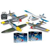 Flyzone AirCore P-51 & Priciple Trainer RTF + Flyzone AirCore P-51 & ME-109 Tx-R Prime