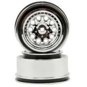 RPM Slash 2WD Rear Chrome Wheels - Chrome RPM82333