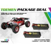 Team Losi 1/5 DBXL-E 2.0 4WD Brushless Desert Buggy Losi Body RTR Smart + Gens Ace Bashing Series 11000mAh