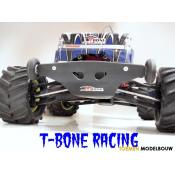 Traxxas E-Maxx - T-Bone Racing Basher rear bumper & Wheely bar