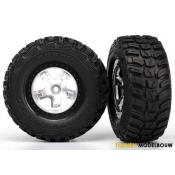 Tires & wheels SCT satin chrome with black beadlock wheels - TRX5880X