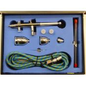 Overbeek Airbrush Set - Dual action Gravity feed
