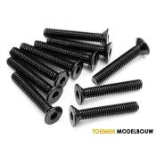 FLAT HEAD SCREW M3x18mm 10pcs - HPIZ086
