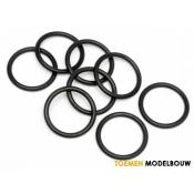 O-RING S13 13x1.5mm BLACK 8pcs - HPI75079