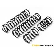 SHOCK SPRING SET 23x155x2.4mm 17.5COILS BLACK - HPI86762