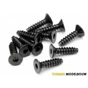 TP. FLAT HEAD SCREW M4x15mm HEX SOCKET 10pcs - HPI94631