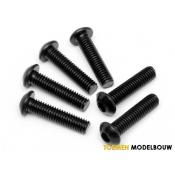 BUTTON HEAD SCREW M6x25mm HEX SOCKET 6pcs - HPI94909
