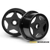 SUPER STAR WHEEL BLACK 120x60mm 2pcs - HPI3221