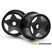 SUPER STAR WHEEL BLACK 120x75mm 2pcs - HPI3226