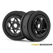 AH-64 WHEEL BLACK 2pcs - HPI107384