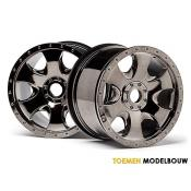 WARLOCK WHEEL BLACK CHROME 2pcs - HPI105801