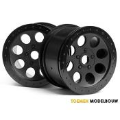 MAG-8 WHEEL BLACK 2pcs - HPI3186