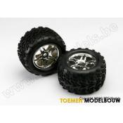 Tires & wheels assembled and glued - SS Chrome - TRX5174R