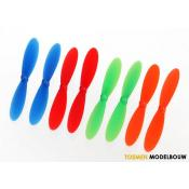 Traxxas Rotor blade set with red & blue & green & orange - TRX6226