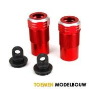 Front Rear Shock Body cap Aluminum - LOS253004