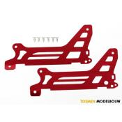 Main frame & side plate & outer red anodized aluminium & screws - TRX6327