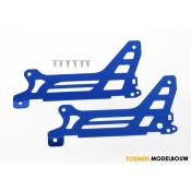Main frame & side plate & outer blue-anodized aluminum & screws - TRX6328