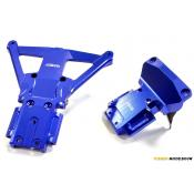 Billet Machined Front & Rear Bulkhead for Traxxas Slash 4X4 LCG Chassis