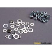 Lock nut - washer set - TRX1252