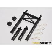Body mount rear & body mount posts front - TRX7315
