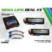 2x Gens ace Bashing Series 5000mAh 11.1V 3S1P 50C-100C Lipo Batterij EC-5 en RC Plus Power Duo 100 Charger