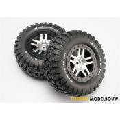 Tires & wheels assembled SCT satin with black beadlock wheels - TRX6873X