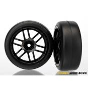 Tires and wheels black & 1.9 Gymkhana slick tires - TRX7376