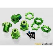 Wheel hubs splined 17mm green-anodized - TRX5353G