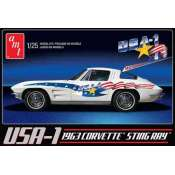 AMT USA-1 1963 Chevy Corvette Sting Ray 1:25 bouwpakket