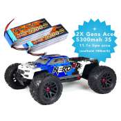 ARRMA Nero 6S BLX Diff Brain 1:8 brushless electro monster truck 4WD + 2X Gens ace 5300 mAh 11.1V