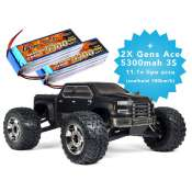 ARRMA Nero 6S Big Rock 4WD BLX EDC Monster Truck RTR + 2X Gens ace 5300 mAh 11.1V
