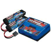 Traxxas Battery/charger completer pack (includes TRX2972 Dual iD charger (1), TRX2869X 7600mAh 7.4V 2-cell 25C LiPo battery (2)) - TRX2991G