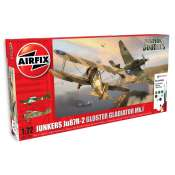 Airfix JU87/Gloster Gladiator Dog Fight Double in 1:72 bouwpakket met lijm en verf