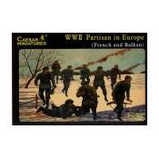 Caesar Miniatures  WWII Partisan in Europe French and Balkan - 1:72 Bouwpakket