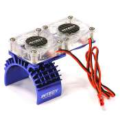 Integy Motor Heatsink + Twin Cooling Fan for Traxxas Slash 4X4 & Rustler 4X4