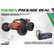 Team Corally DEMENTOR XP 6S Model 2021 1/8 Monster Truck SWB RTR - inclusief Power Package