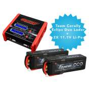 Team Corally Eclips 2100 Duo lader + 2x 11.1V Li-Po