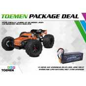 Team Corally JAMBO XP 6S Model 2021 1/8 Monster Truck SWB RTR - inclusief Power Package