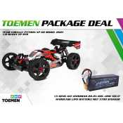 Team Corally PYTHON XP 6S Model 2021 1/8 Buggy EP RTR - inclusief Power Package