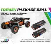 Team Losi 1/5 DBXL-E 2.0 4WD Brushless Desert Buggy Fox Body RTR Smart + Gens Ace Bashing Series 8000mAh