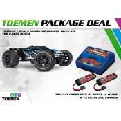 Traxxas E-Revo 2 Brushless Monster Truck RTR TSM 2.4Ghz Blauw - inclusief Power Package
