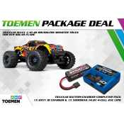 Traxxas Maxx 1/10 4S Brushless Monster Truck TSM RTR Solar Flare - inclusief Power Package