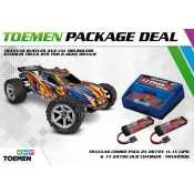Traxxas Rustler 4X4 VXL Brushless Stadium Truck RTR TSM 2.4Ghz Oranje - inclusief Power Package
