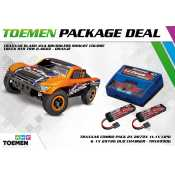Traxxas Slash 4x4 Brushless Shourt Course Truck RTR TSM 2.4Ghz Oranje - inclusief Power Package