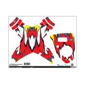 Upgrade DJI Phantom 1 & 2 Custom Skin - Red & Yellow