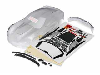 Traxxas Body, Chevrolet Corvette Z06 (clear, requires painting)/ decal sheet - TRX8386